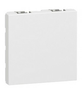 Obturateur 2 modules finition blanc