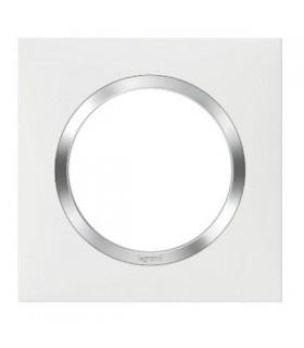 Plaque Dooxie, 1 Poste, Blanc - Chrome
