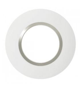 Plaque Dooxie, Ronde, 1 Poste, Blanc - Plume