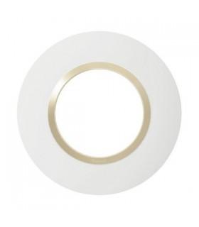 Plaque Dooxie Ronde, 1 Poste, Blanc - Dune