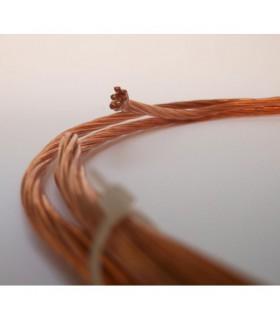 Fil de cuivre nu, 25 mm², long 5 m.