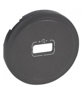 Enjoliveur Graphite pour prise USB Céliane