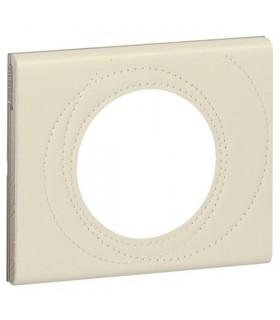 Plaque Céliane Cuir, finition Perle Couture Legrand, 1 poste