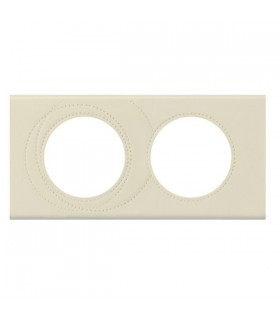 Plaque Céliane Cuir, Perle Couture Legrand, 2 postes, entraxe 71 mm