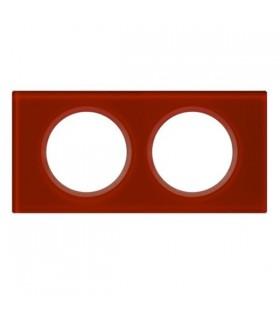 Legrand Plaque Céliane Verre Carmin : 2 postes (entraxe 71 mm).