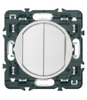 Double interrupteur Céliane Blanc (griffe)