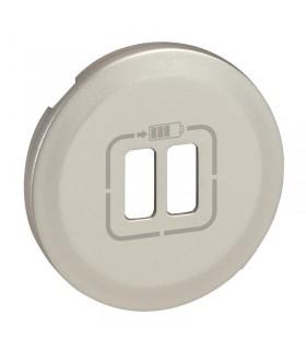 Enjoliveur Titane pour prise chargeur USB