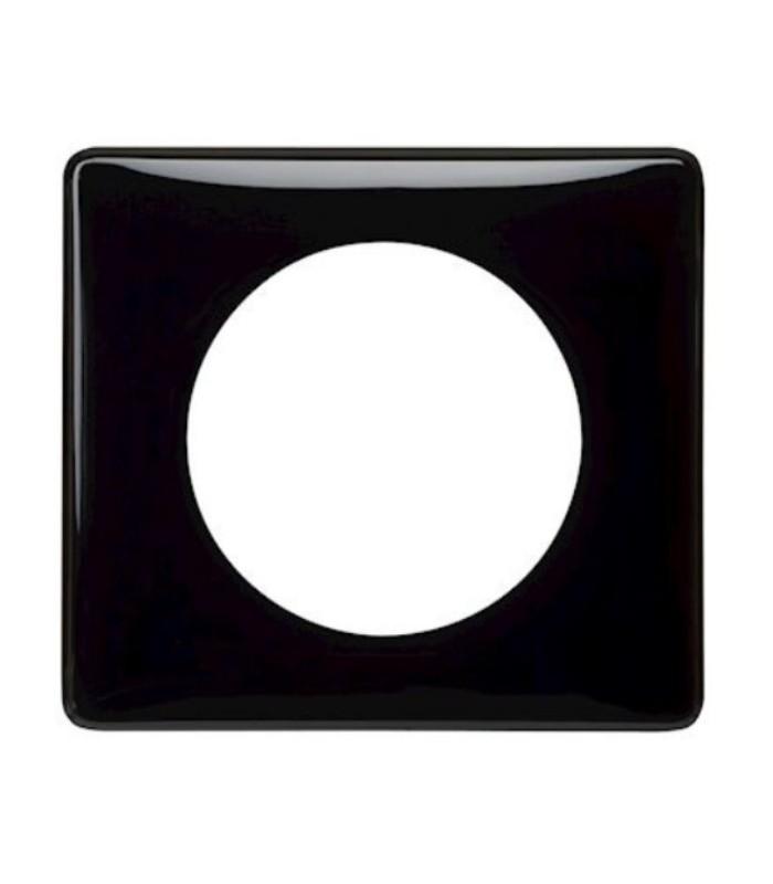 plaque c liane legrand laqu noir 1 poste 66681. Black Bedroom Furniture Sets. Home Design Ideas