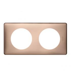 Plaque Céliane Legrand :  Métal Copper, 2 postes (entraxe 71 mm)