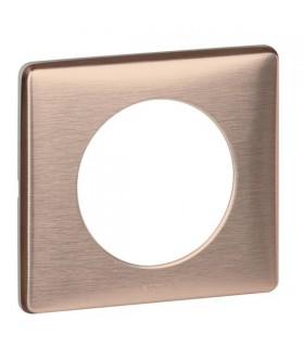 Plaque Legrand Métal Céliane : Copper, 1 poste.