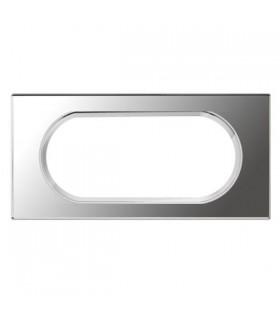 Plaque Legrand 4/5 modules finition Verre Miroir