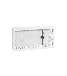 Cadre saillie 2 x 10 modules Horizontal ( profondeur 40 mm)
