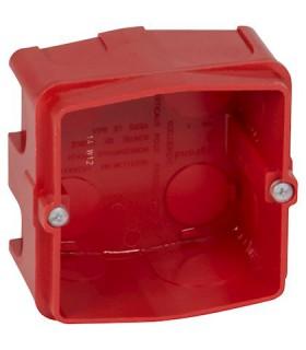 Boite  maçonnerie 1 poste pour prise 20 / 32 Amp. Batibox Prof 40 mm.