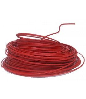 Fil 1.5 mm² Rouge 1 rouleau de 100 mètres.