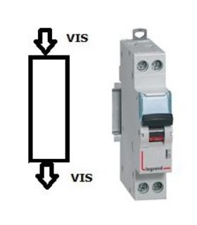 Disjoncteur Legrand 6 A - C6 Phase / Neutre, Vis - Vis
