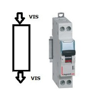 Disjoncteur Legrand 32 A - C32 Phase / Neutre, Vis - Vis