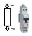 Disjoncteur Legrand 25 A Courbe D Phase + Neutre, Vis - Vis
