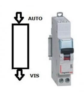Disjoncteur Legrand 25 A Courbe D Phase + Neutre, Auto - Vis