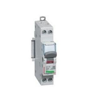 Interrupteur modulaire 400 V 2 pôles, 20 A, à voyant témoin
