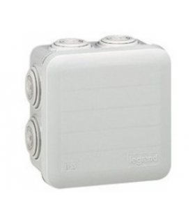 Boite étanche Plexo Legrand carrée Blanc 105 x 105 x 55