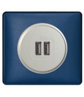 Chargeur USB Céliane double, Nuit d'encre