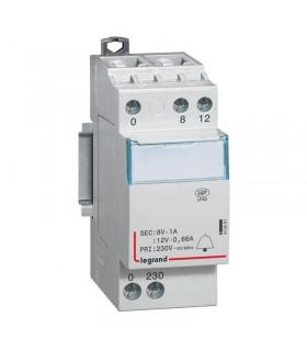 Transformateur Sonnerie 230 / 12-8 V Modulaire
