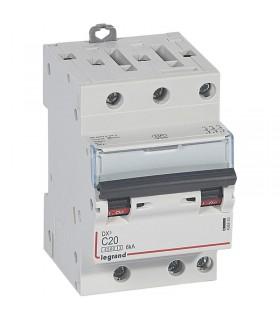 Disjoncteur tripolaire 20 A Disjoncteur DX3 - Courbe C - 4.5 kA