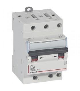 Disjoncteur tripolaire 25 A Disjoncteur DX3 - Courbe C - 4.5 kA