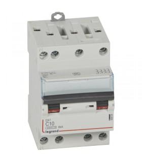 Disjoncteur tétrapôlaire 10 A Disjoncteur DX3 - Courbe C - 4.5 kA