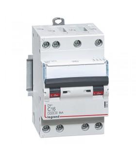Disjoncteur tétrapôlaire 16 A Disjoncteur DX3 - Courbe C - 4.5 kA