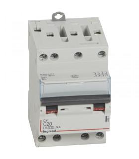 Disjoncteur tétrapôlaire 20 A Disjoncteur DX3 - Courbe C - 4.5 kA