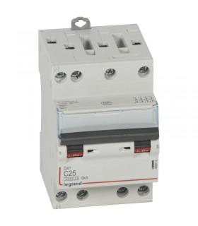 Disjoncteur tétrapôlaire 25 A Disjoncteur DX3 - Courbe C - 4.5 kA