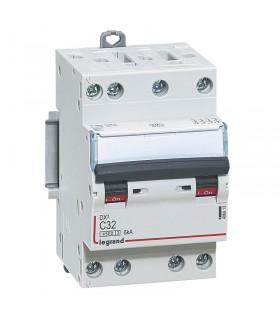 Disjoncteur tétrapôlaire 32 A Disjoncteur DX3 - Courbe C - 4.5 kA