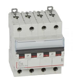 Disjoncteur tétrapôlaire 16 A Courbe C - 6 kA