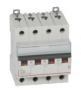 Disjoncteur tétrapôlaire 20 A Courbe C - 6 kA