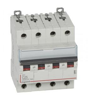 Disjoncteur tétrapôlaire 25 A Courbe C - 6 kA