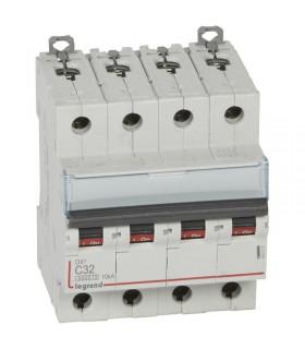Disjoncteur tétrapôlaire 32 A Courbe C - 6 kA