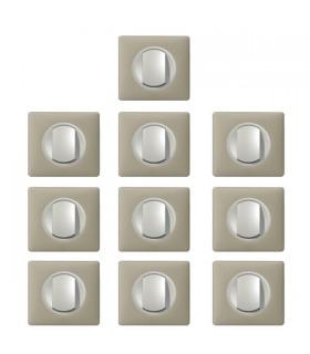 Promotion va et vient Argile 10 Interrupteurs Céliane complets