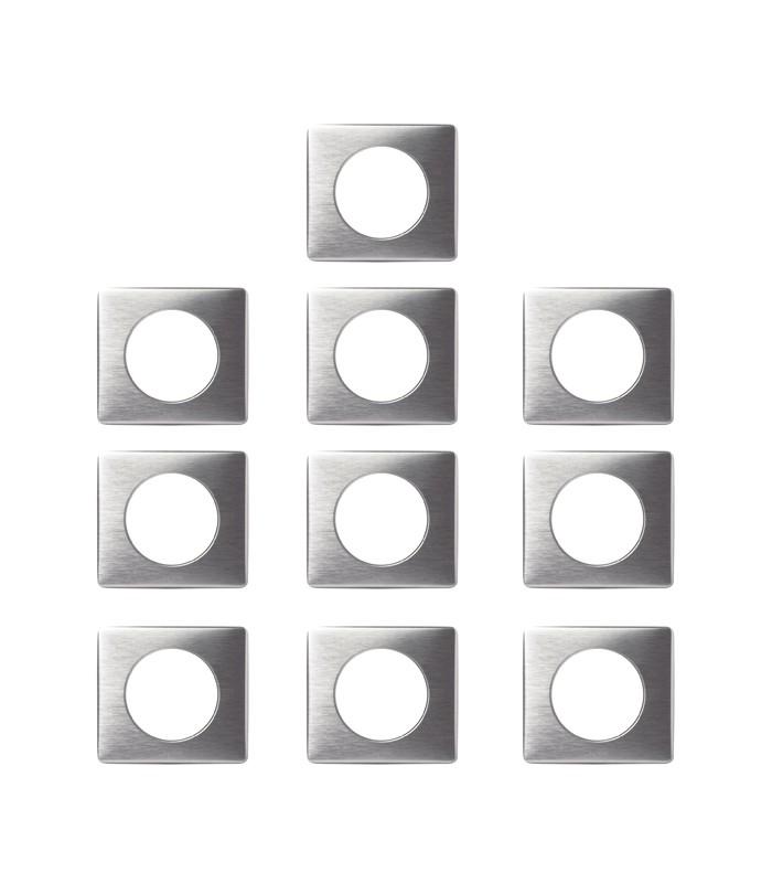 10 plaques c liane legrand alu anodis 1 poste 68921p. Black Bedroom Furniture Sets. Home Design Ideas