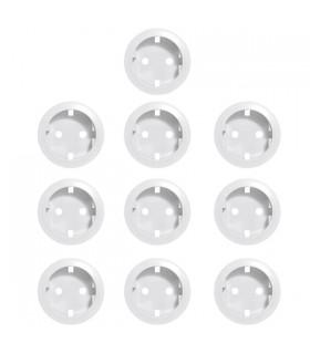 Enjoliveur blanc prise germanique Vendu par 10 pcs