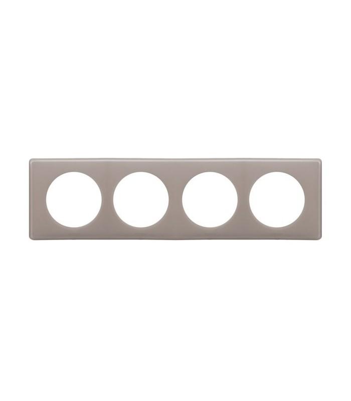 plaque 4 postes c liane legrand galet 66614 legrand. Black Bedroom Furniture Sets. Home Design Ideas