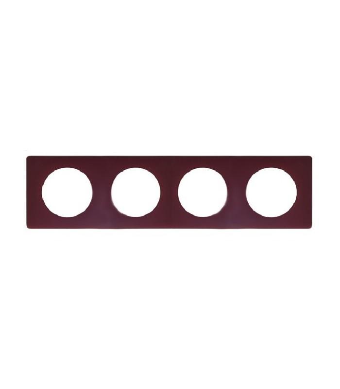 plaque 4 postes c liane legrand poudr bordeaux 66754. Black Bedroom Furniture Sets. Home Design Ideas
