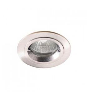 Kit spot Rond spécial salle de bains, Aluminium brossé