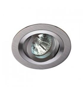Spot Rond Aluminium Brossé/poli orientable.