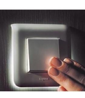 Va et vient avec Plaque lumineuse Mosaic Complet Noir Mat