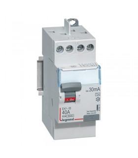 Interrupteur différentiel 40A - 2 Pôles  30 mA, type A, Vis - Vis