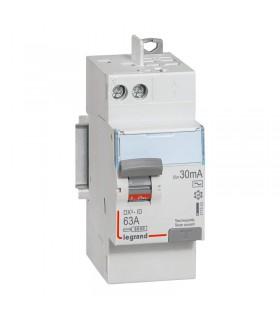 Interrupteur différentiel 2 Pôles  63A, 30 mA, type AC, Auto - Auto 2 mod