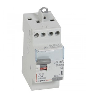 Interrupteur différentiel 2 Pôles 40A, 30 mA, type F (HPI), Vis - Vis