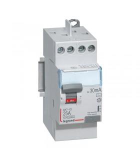 Interrupteur différentiel 2 Pôles 25A, 30 mA, type AC, Vis - Vis