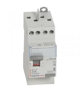 Interrupteur différentiel 2 Pôles  25A, 30 mA, type A, Vis - Vis